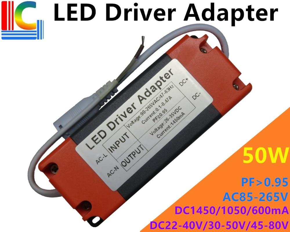 Freeshipping 30 w 36 42 48 50 led painel de luz driver adaptador AC85-265V fonte alimentação 600ma 1050ma 1450ma iluminação transformador