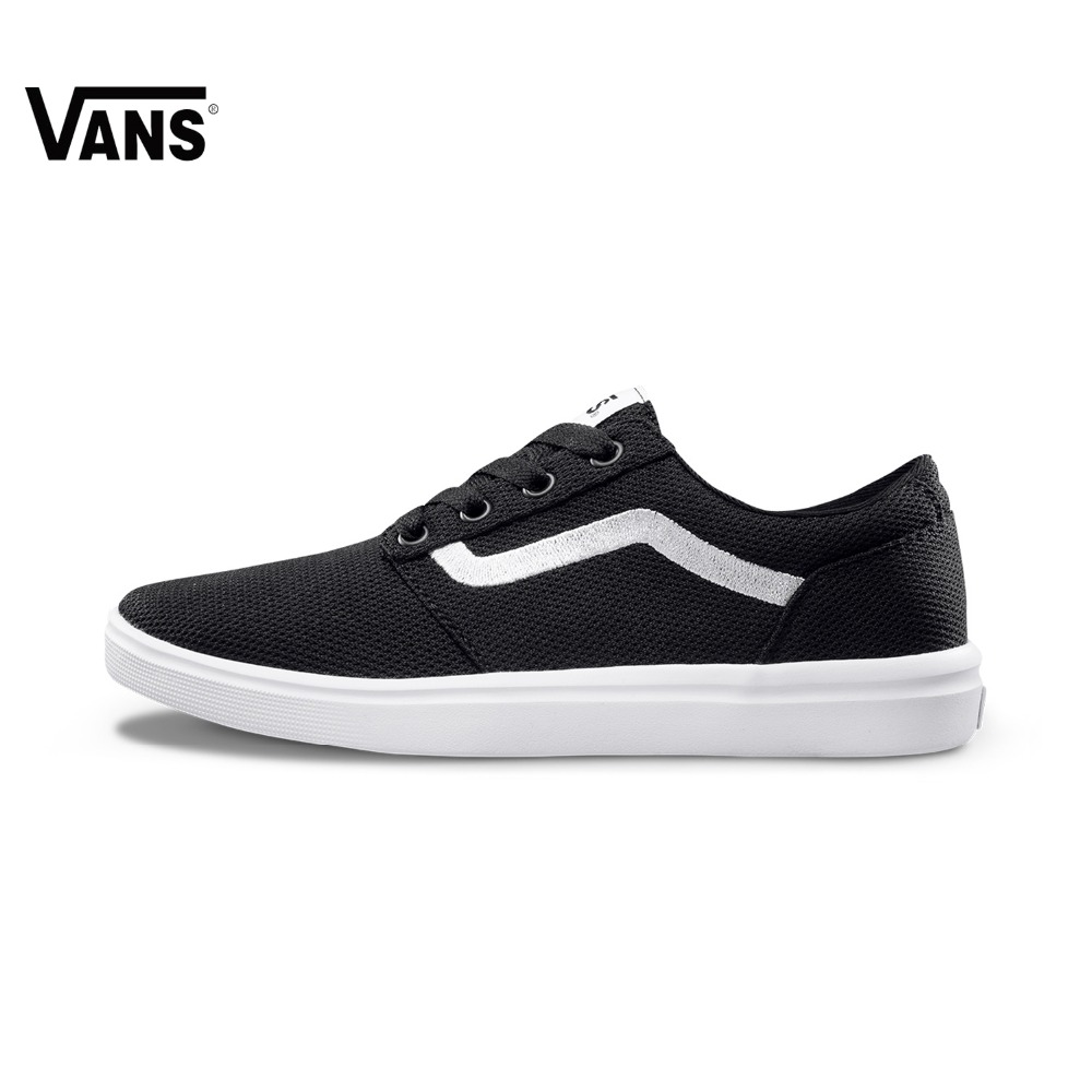 Original Vans New Arrival Autumn Black Color Light-Weight Low-Top Men's Skateboarding Shoes Sport Shoes Sneakers