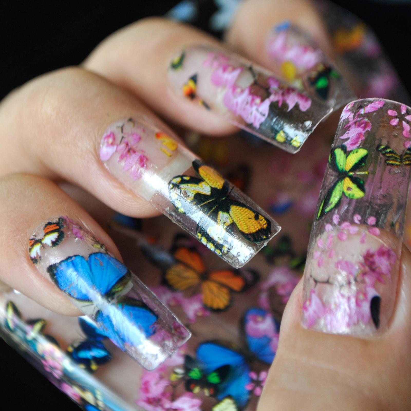Nail Art Transfer Foil Stickers Decorations Decals Plastic Nail ...