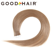 Brazilian Straight Tape Blonde Hair Tape On Human Hair Extensions Skin Wefts Tape In Machine Made Remy Hair 8# 2G/Pcs GOOD HAIR(China)