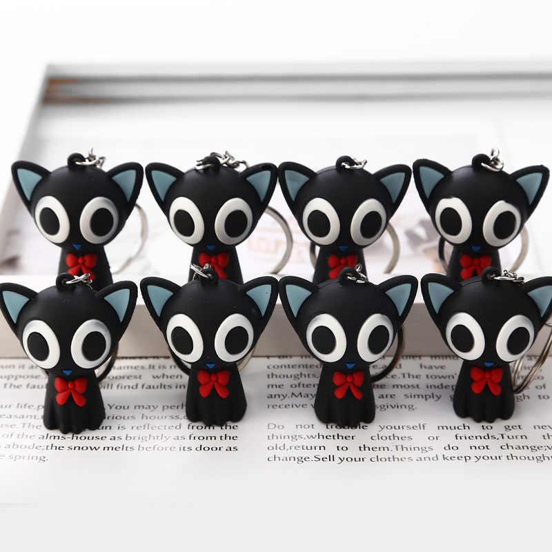 2019 Moda Bonito Bonecas Dos Desenhos Animados Pequeno Gato Preto Chaveiro Porte Clef Mulheres Casal Chaveiro Chaveiro Bugiganga Carro Crianças Brinquedo