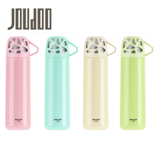 JOUDOO Cute Candy Color Mint Water Bottle 500ml Stainless Steel Thermo Tumbler Vacuum Flasks with Handle Cup Coffee Mug  35