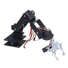 Industrial Robot 3D Rotate Mechanical Arm Alloy Manipulator 6 Dof Robot Arm Rack with 996 Servos + 1 Alloy Gripper + Controller official doit 8 dof humanoid robot walking man bipedal robot steering gear bracket part robot arm hand robotic model robotics