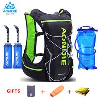 2018 AONIJIE Pro Men Women 10L Outdoor Bags Hiking Backpack Vest Marathon   Running   Cycling Backpack Optional Bottle Water Bag