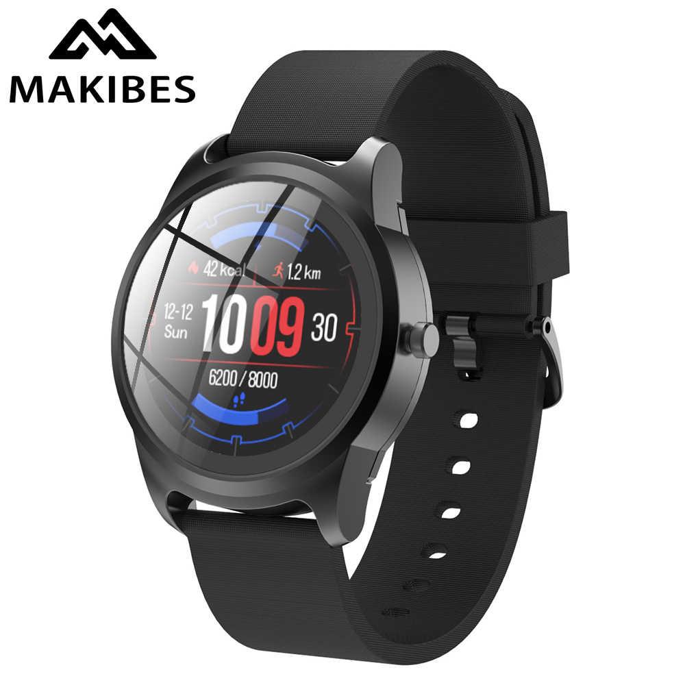 """Nouveau Makibes GT28 montre intelligente 1.3 """"40 jours en veille Bluetooth IP68 étanche Fitness Tracker sport Smartwatch pour Android iOS"""