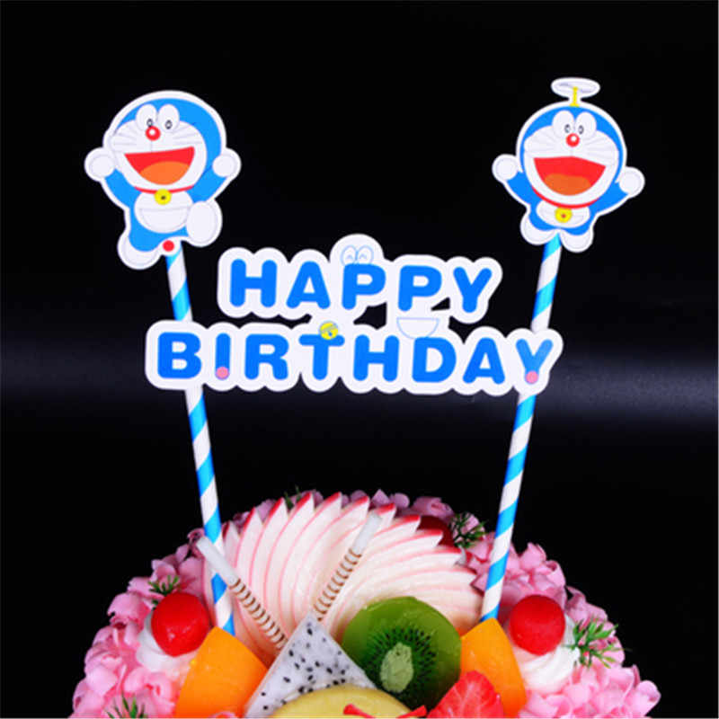 Brilliant Doraemon Happy Birthday Cake Topper Children Kids Party New Born Birthday Cards Printable Nowaargucafe Filternl
