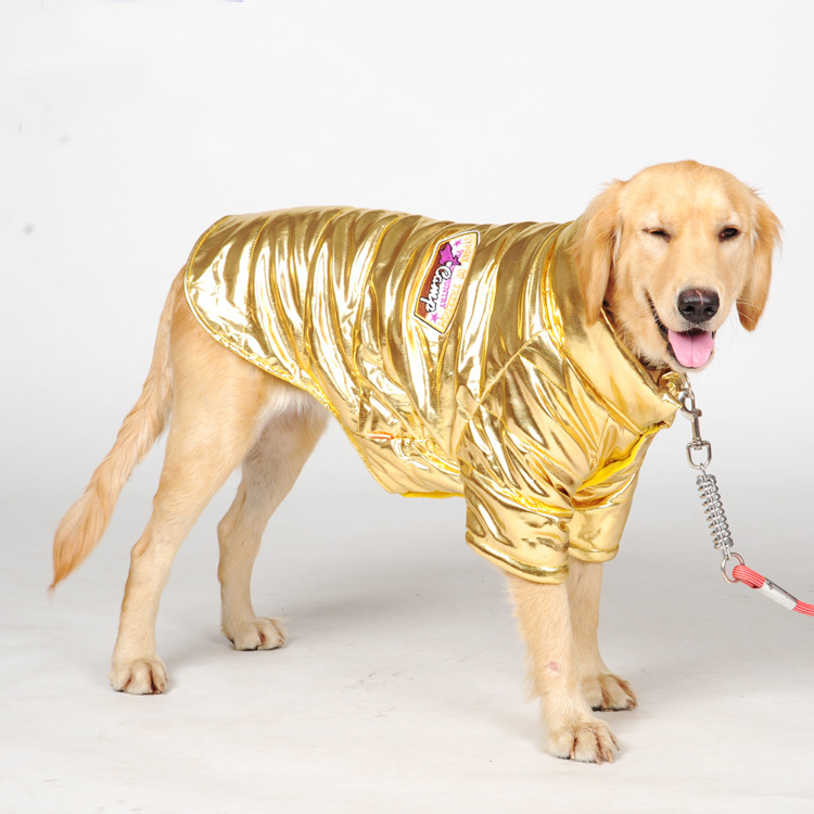 Big dog clothes Spring and Autumn Cool Clothes Golden Dog Pet Dog Clothes Cotton Padded Feet