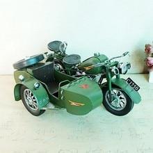 retro metal Yangtze River 750 partial  motorcycle military model decoration home christmas decorations
