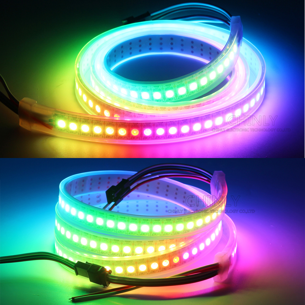 Lights & Lighting ... LED Lighting ... 32337440906 ... 2 ... WS2812B LED Strip Individually Addressable RGB Smart Pixels Strip1m/4m/5m Black/White PCB WS2812 IC Waterproof 5V 30/60/144 leds ...