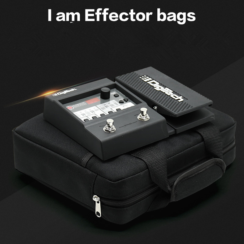 27*22cm Small Electric Guitar Pedalboard Bag Soft Gig Case Pedal Board Cover Effector Portable Padded Storage Pocket Package