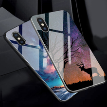 Phone Case For iPhone 7 Case For iphone XS Max Case Tempered Glass Silicon Luxury Cover For iPhone XR X 6 6S 7 Plus 8Plus Cover