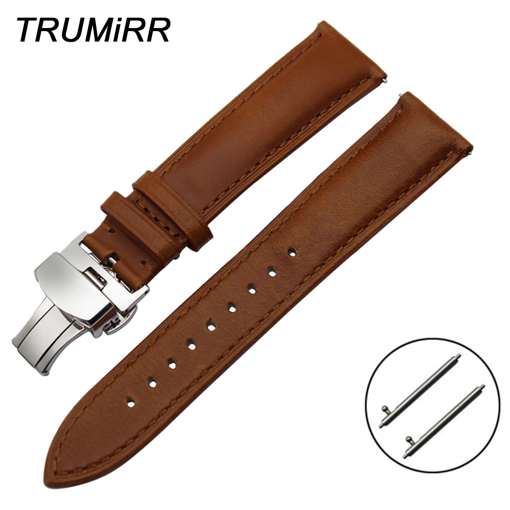 18mm 20mm 22mm Imported Calf Genuine Leather Watchband Quick Release Strap Universal Men Women Watch Band Wrist Bracelet Brown women crocodile leather watch strap for vacheron constantin melisa longines men genuine leather bracelet watchband montre