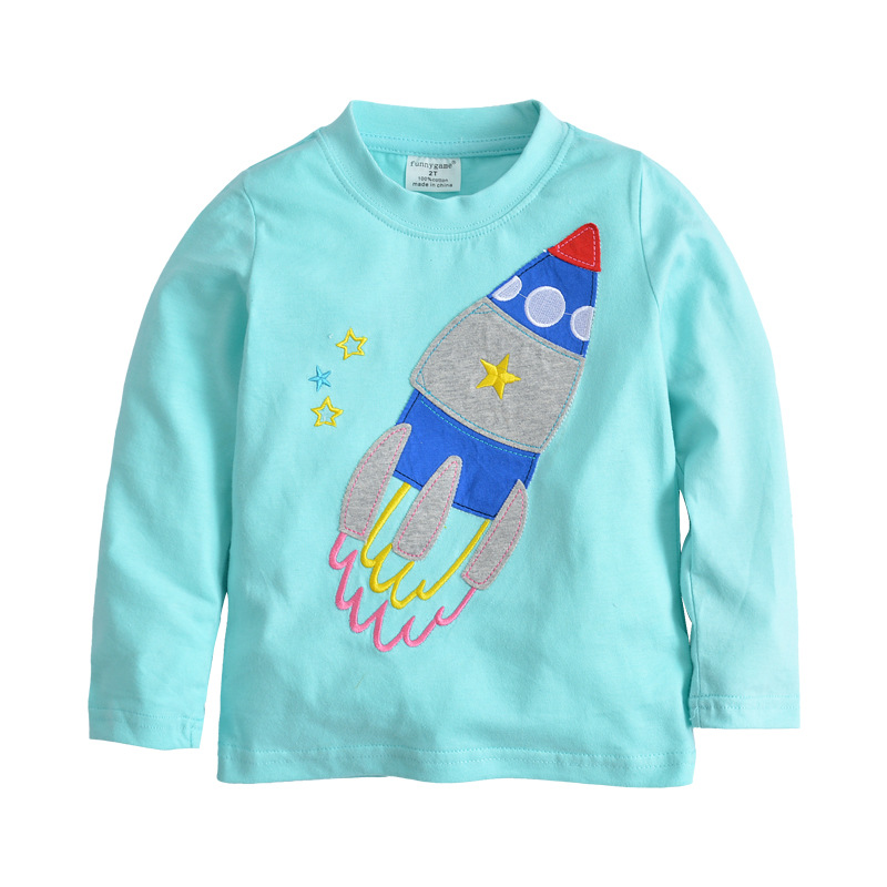 Baby Girl T Shirt Kids Long Sleeve Tops 100% Cotton 2018 Brand Spring Clothes Girls Tops Children Clothing 2-7T 1