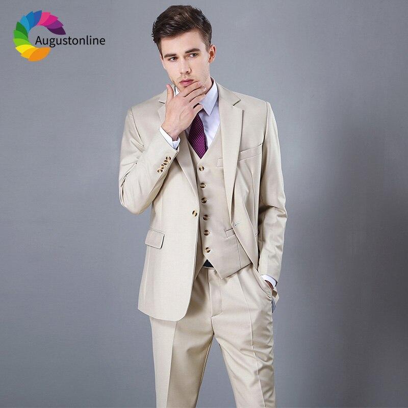 Begei Wedding Men Suits 3 Pieces (Jacket+Pants+Vest) Slim Fit Groom Tuxedos Bridegroom Best Man Blazer