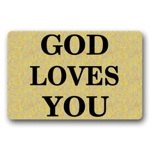 Bedroom Door Mat Entrance God Loves You Non-slip 18x30 inch front entrance door outdoor decor indoor funny floor mats