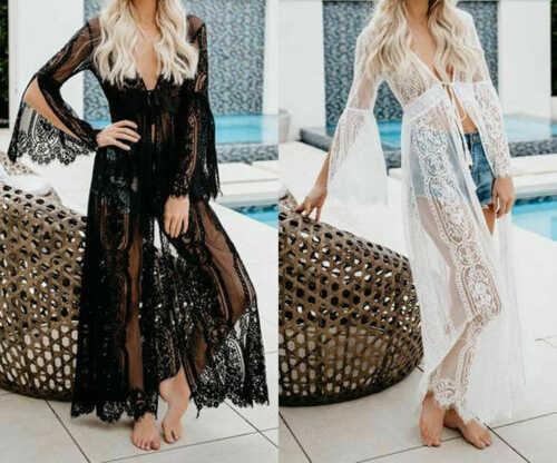 Длинные платья летние женские прозрачные платья саронг кафтан пляжные женские праздничные повседневные макси платья 2019 новое поступление