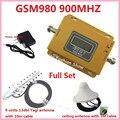 70dB GSM LCD 900 MHz Sem Fio Do Telefone Móvel Repetidor de Sinal De Reforço, Amplificador de Sinal de telefone celular Impulsionador + Antena Externa Coberta