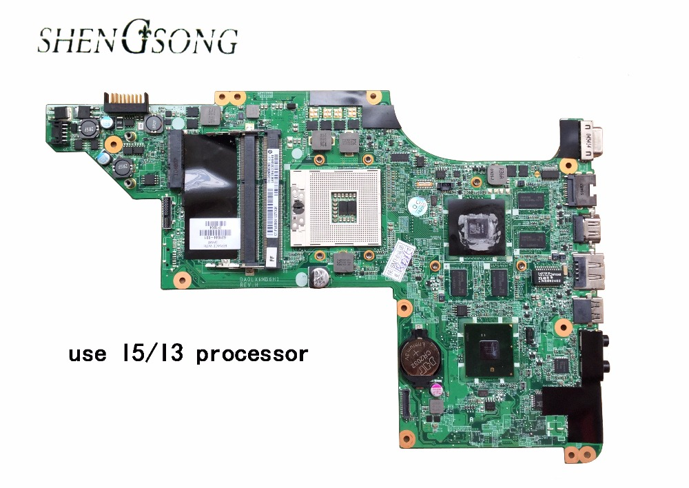 631044-001 Free Shipping for HP pavilion DV6 DV6T DV6-3000 motherboard with 5650/1GB video card DA0LX6MB6H1 DA0LX6MB6F1