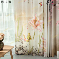 YO CHO New 3d curtains Blackout curtains Chinese curtains for living room drapes bedroom Christmas Paravent hanging room divider