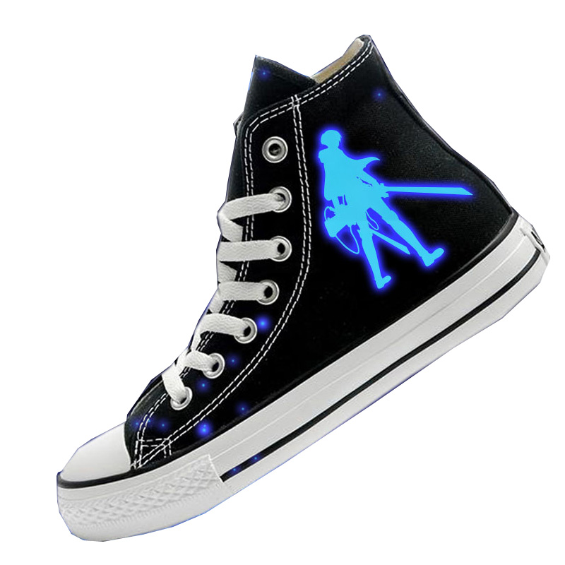 Cosworld Attack On Titan Cosplay Shoes High Platform Canvas Shingeki No Kyojin Shoes Board Luminous Shoes (2)