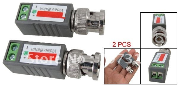 FREE  DHL  SHIPPING 	 Coax CAT5 Camera CCTV BNC Video Balun 1 Channel passive Transceiver Cable