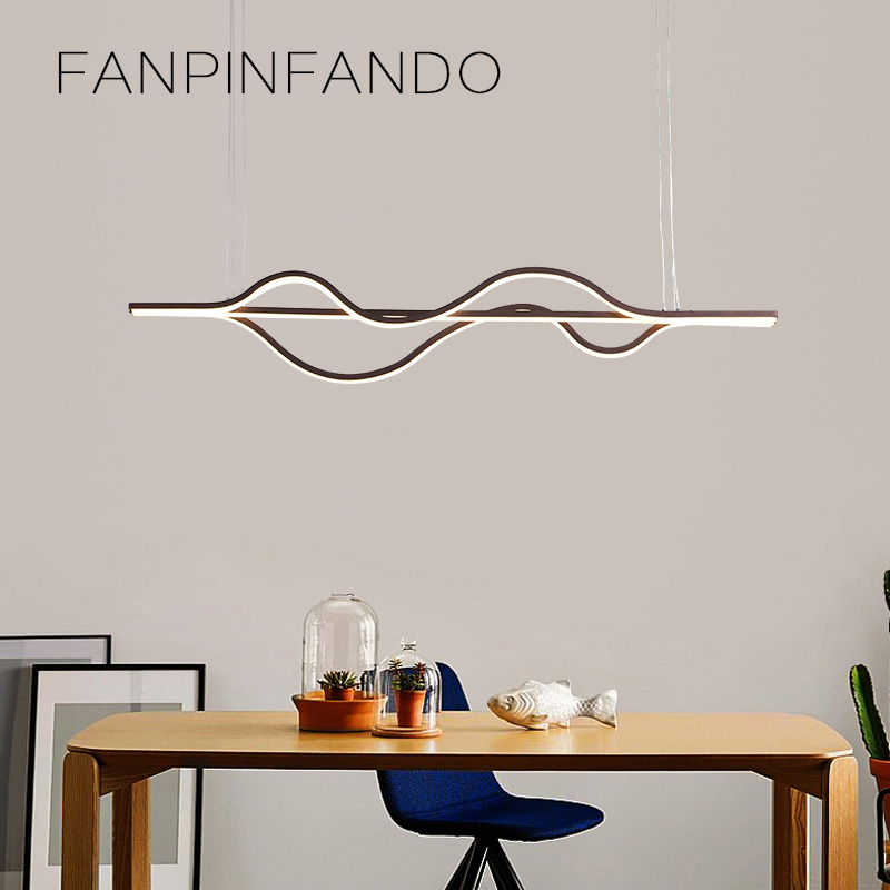 где купить Modern Chandelier Lighting Led Lamp Lustre Ceiling Chandelier Aluminum Light Fixture Wave Hanging Living Room Kitchen Restaurant по лучшей цене