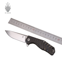 Kizer Bushcraft Knife Survival CPM S35VN Blade Material 6AL4V Titanium Handle High Quality Out Door Tool