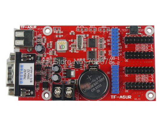 5pcs/lot LongGreat TF-A6UR USB Driver and RS232 Serial Ports LED Display Card