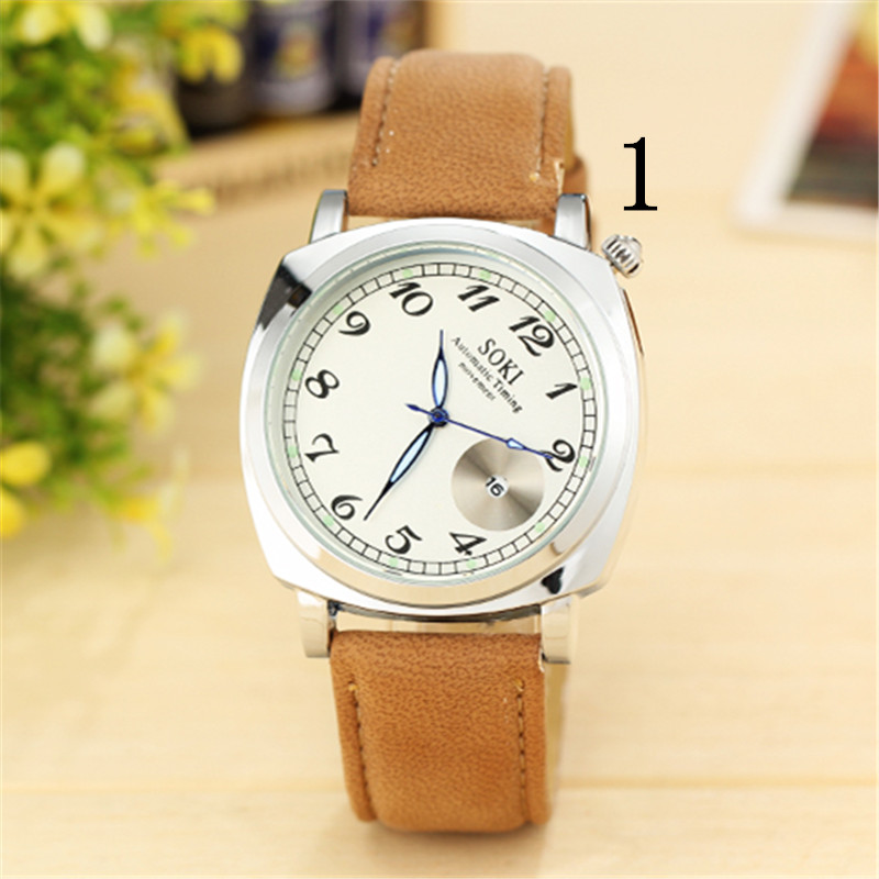 Young men's leisure quartz watch, high quality workmanship цена и фото