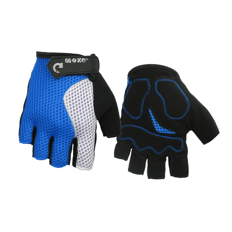 MOKE Half Finger Mens Cycling Gloves Bicycle Sports Riding Gloves Short Fingers Riding Motorcycle Fitness Anti-Slip Gloves