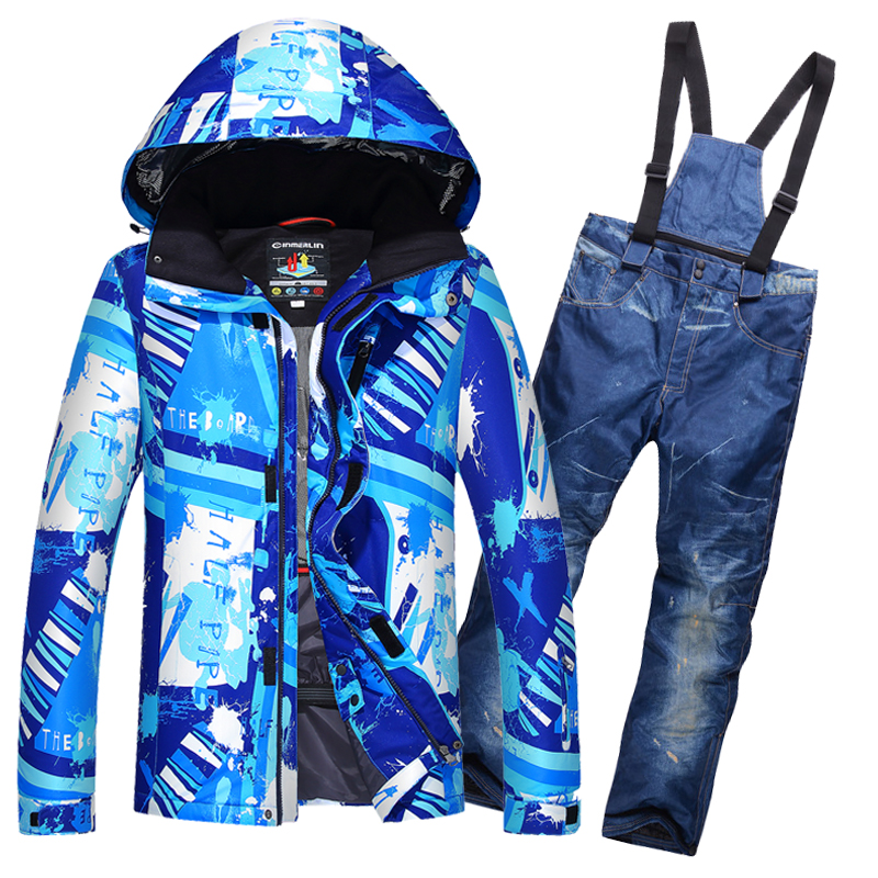 2017 New Winter ski Suit Men Sets Windproof Waterproof 10000mm men's Snow Jacket and Pants Warm Clothes Set snowboard suits free shipping the new 2017 gsou snow ski suit man windproof and waterproof breathable double plate warm winter ski clothes