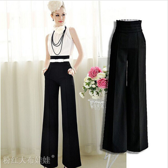 2016 Pantalones Mujer Cargo Pants Women For Office High Waist Trousers Pantalon Femme Ol Good Quality Ladies Work Wear Loose