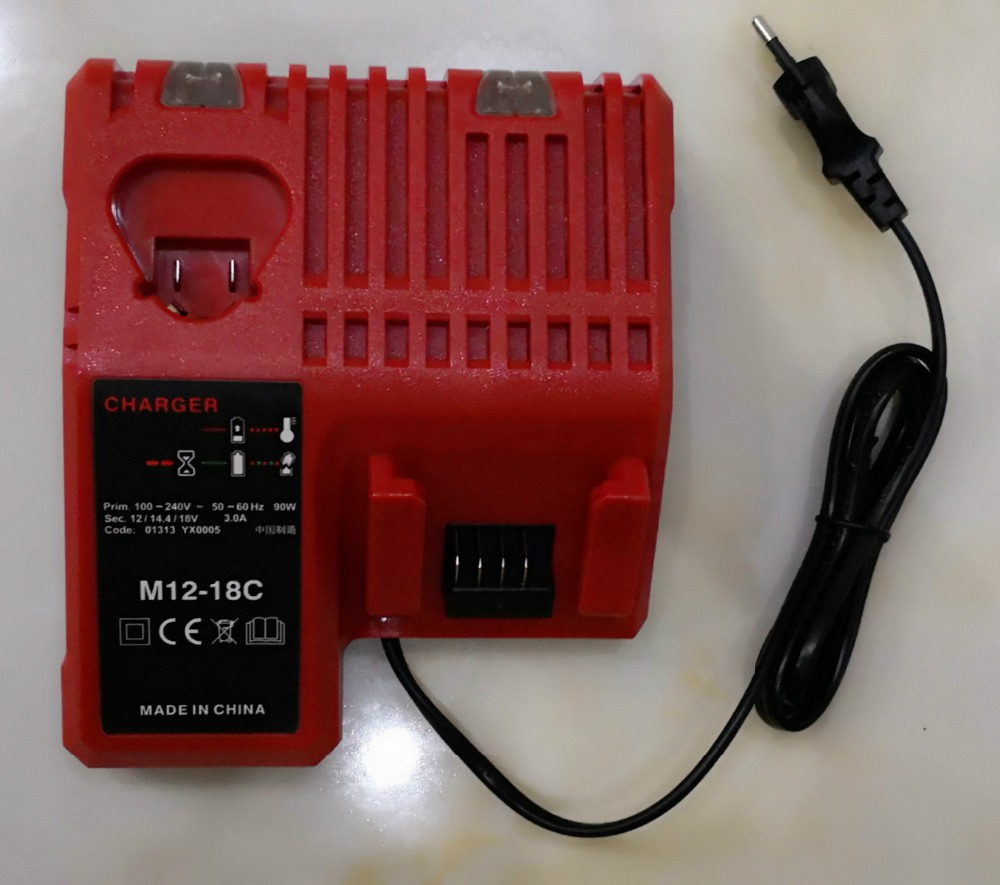 Milwaukee M18 Battery New 3a Dual Charger For Milwaukee M18 M12 M14 Lithium Battery Fit For 14 4v 18v Battery With Eu Us