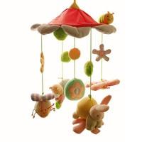 SHILOH Promosyon Yeni Sıcak Müzikal Mobil Bebek Yatağı Dönen Müzik Kutusu peluş Bebek 60 Şarkılar Bug Tavşan Pembe Oyuncak Kız Erkek Beşik oyuncak