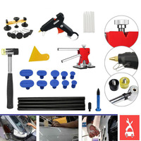 PDR Paintless Dent Lifter Repair Hail Hammer Removal Tools Car Puller Tabs Kit