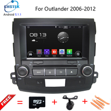 """8 """"quad core 1024×600 android 5.1.1 car dvd dla mitsubishi outlander 2006-2012 RDS BT Wifi wsparcie 3G DTV DAB Bezpłatny mapie kamera"""