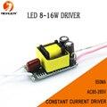 Frete grátis 4 - 8 * 2 W Led Driver 8 W / 10 W / 12 W / 14 W / 16 W lâmpada de motorista de poder transformador de iluminação da fonte de saída AC85-265V 550mA