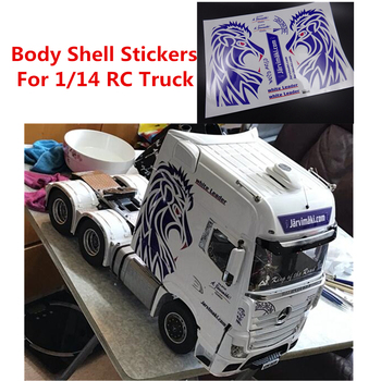 Body Shell Stickers Fit For Tamiya 1/14 RC Truck Benz 1851 56335 Actros 3363 56348-56352 Remote Control Toys Truck