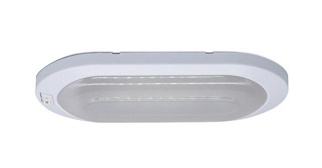 12 V קרוון אור LED מוטורהום קרוון פנים מנורת ארוך סגלגל לבן RV אורות מנוע אביזרים לבית