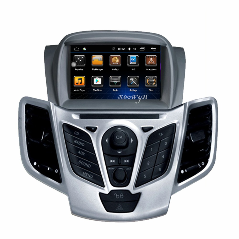 Quad core android 6.0 Car DVD player GPS for Ford Fiesta 2009 2010 2012 2013 2014 2015 2016 Navigation In-dash Stereo Radio