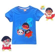 купить Summer Boys T Shirt Girls T-shirt Kids Shorts Tee Shirt Toys Ryan Printing Review Clothing For Boys Tops Cartoon Printed Blue по цене 500.86 рублей