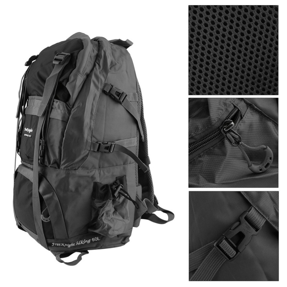 FREE KNIGHT Waterproof 50L Outdoor Sport Men Woman Hiking Backpack Nylon Bag For Camping Travel Mountaineering Climbing