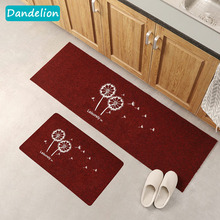 Creative Dandelion Kitchen Mat Cheaper Anti-slip Modern Area Rugs Living Room Balcony Bathroom Carpet Set Doormat Bath