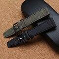 Pulseiras de relógio de Nylon Esporte Relógios cintas acessórios 20mm 21mm 22mm Preto Exército Verde pulseiras de Relógio pvd preto pin fivelas de moda