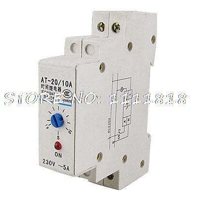 AC 220V LED Indicator 0.1-10 Second Range Power On Time Timer Delay Relay