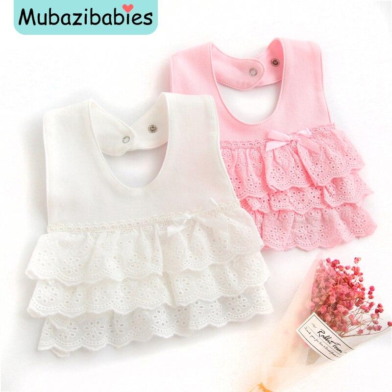 2017 New Newborn Baby Bibs Baby Bandana Bibs Princess 100% Cotton Lace Bandana Baby Slabber Baberos Bebes Baby Burp Cloths ...