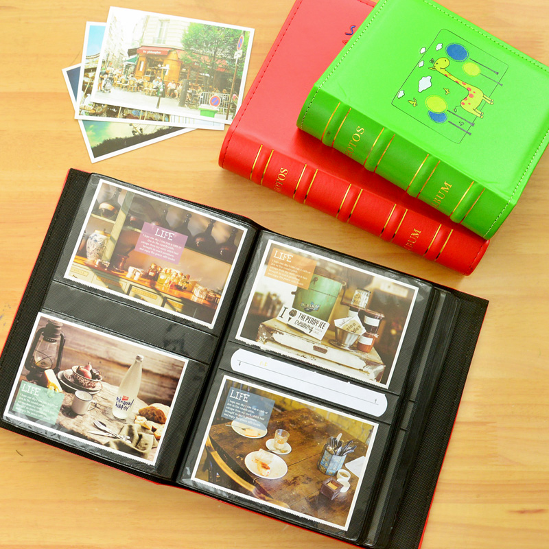 cartoon cute leather photo album 200 photos 6 inch  5 inch