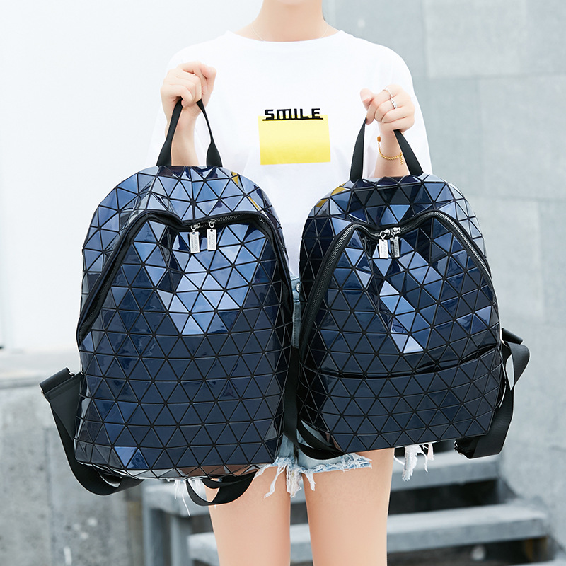 0824ffcfde New Glossy Women Backpack Geometric Plaid Sequin Female Backpack For  Teenage Girls Backpacks Students School Bag