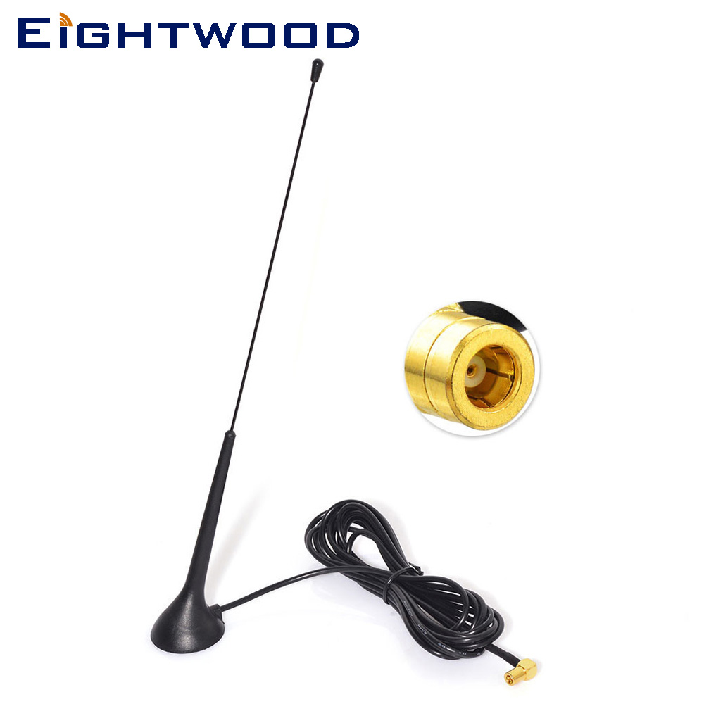 Eightwood DAB+FM/AM Vehicles Boats Car Radios Aerial Dual band Magnetic Mount Antenna for Pioneer Blaupunkt JVC Kenwood Sony eightwood conversion fm am to dab fm am car radio aerial splitter with smb to mcx aerial adapter cable