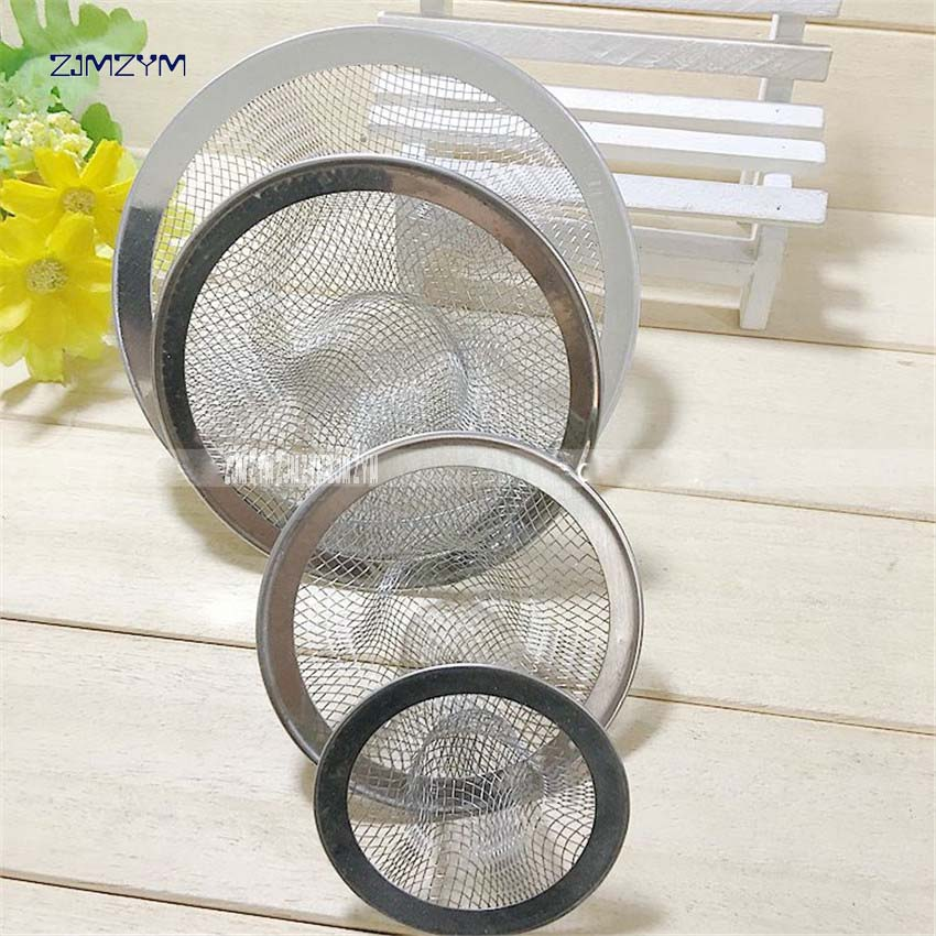 1pc Filter drain stainless steel wash basin water leak net drain kitchen sink accessories filters mesh sink 5.3cm/7.2cm/9cm/11cm